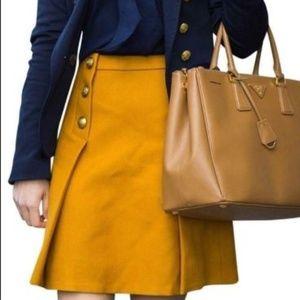 J.Crew Sailor skirt in double-serge wool